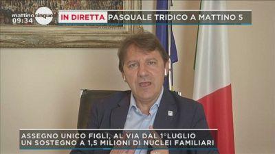 Pasquale Tridico a Mattino 5