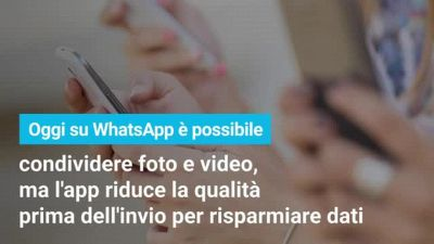 Su WhatsApp arrivano le foto in HD