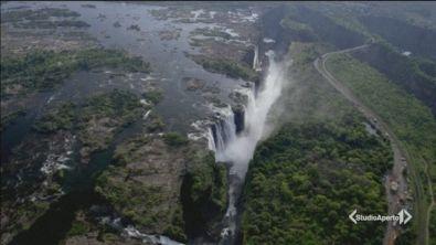 A secco le cascate Vittoria
