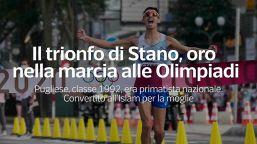 Il trionfo di Stano, oro nella marcia alle Olimpiadi