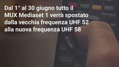Cambiano le frequenze Mediaset dal 1 Giugno