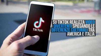 Un'americana su TikTok racconta tutto ciò che la sorprende in Italia