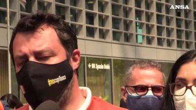 Migranti, Salvini: 'D'accordo con Draghi ma Europa assente'