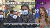 La protesta in strada della comunità bengalese