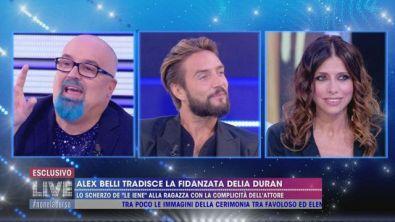 Alex Belli tradisce la fidanzata Delia Duran