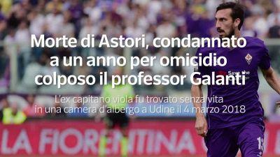 Morte di Astori, condannato a un anno per omicidio colposo il professor Galanti