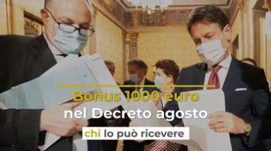 Bonus 1000 euro nel Decreto agosto: chi lo può ricevere