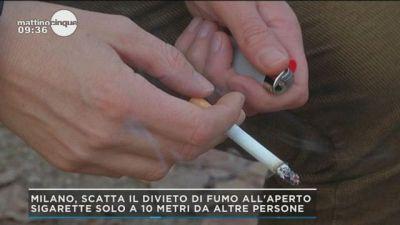 Milano, scatta il divieto di fumo all'aperto