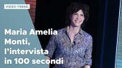 Maria Amelia Monti, l'intervista in 100 secondi