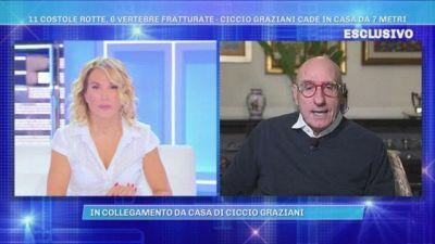 Ciccio Graziani cade in casa da 7 metri