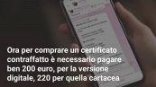 Green Pass falsi su Telegram: prezzi alle stelle