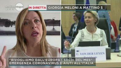 Coronavirus, Meloni sul Mes e Eurobond