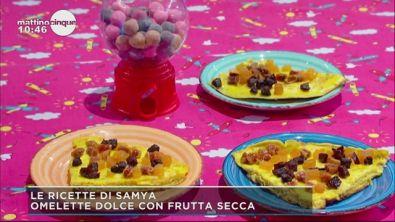 Omelette dolce con frutta secca