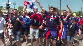 Europei, tifosi della Francia a Budapest prima della partita con l'Ungheria