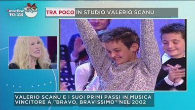 Valerio Scanu e i primi passi