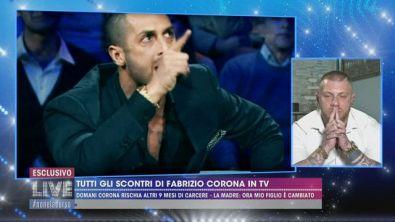 Tutti gli scontri di Fabrizio Corona in tv