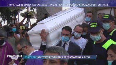 I funerali di Maria Paola: investita dal fratello perché fidanzata con un trans