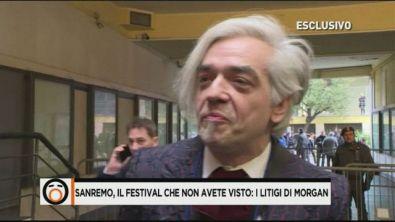 Sanremo, il festival che non avete visto: i litigi di Morgan