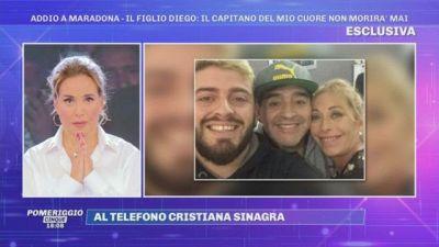 Addio a Diego Armando Maradona, Cristiana Sinagra: ''Diego era speciale ci ha dato tanto amore..''