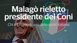 Malagò rieletto presidente del Coni