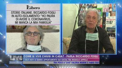 Riccardo Fogli si è messo da solo in quarantena
