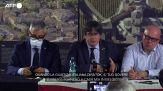 L'ex leader catalano Puigdemont promette di tornare in Sardegna per l'udienza