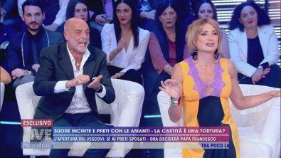 Aspro confronto tra Paolo Brosio e Vladimir Luxuria