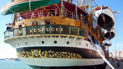 A bordo dell'Amerigo Vespucci