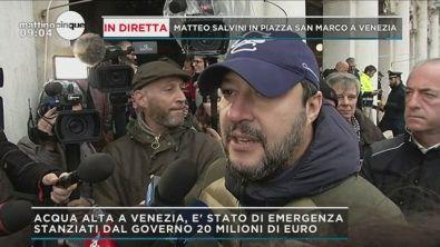 In diretta Matteo Salvini a Venezia