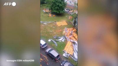 Francia, allagamenti e palazzi abbattuti dai forti temporali nel Sud del Paese