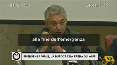 Emergenza virus, la burocrazia frena gli aiuti