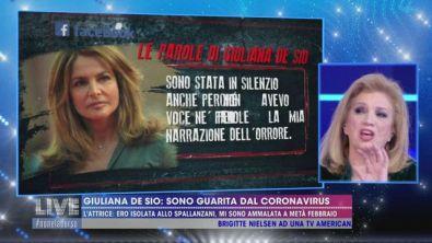 Giuliana De Sio: sono guarita dal coronavirus