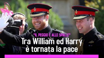Tra William ed Harry è tornata la pace