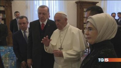 Erdogan dal Papa e Roma è blindata