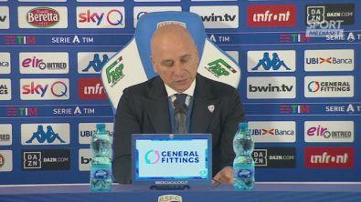 """Brescia, Corini: """"Balo? Fallo non eccessivo. E nemmeno la protesta'"""