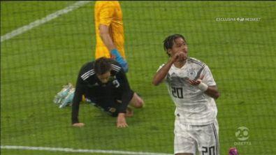 Germania-Argentina 1-0: il gol di Gnabry