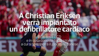 A Christian Eriksen verra' impiantato un defibrillatore cardiaco