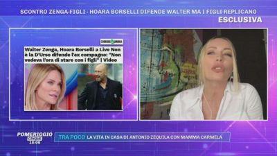 Scontro Zenga-figli: Hoara Borselli difende l'ex Walter Zenga