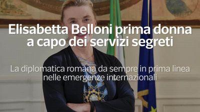 Elisabetta Belloni prima donna a capo dei servizi segreti