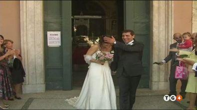 Coriandoli sugli sposi