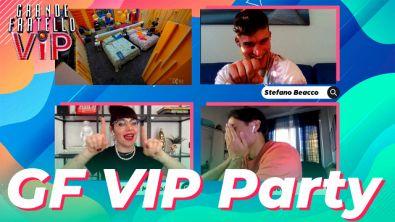 GF VIP Party Ep.8: Annie Mazzola e Awed commentano il Grande Fratello con Stefano Beacco