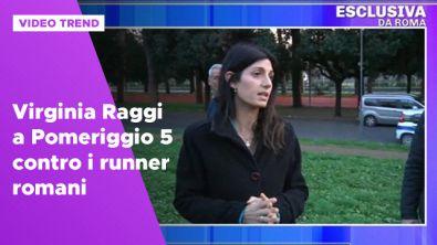 Virginia Raggi a Pomeriggio 5 contro i runner romani