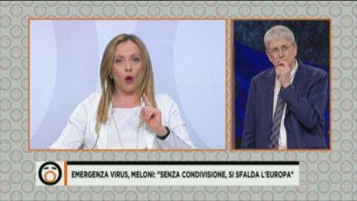 Emergenza virus, l'Europa ci volta le spalle? Parla Giorgia Meloni