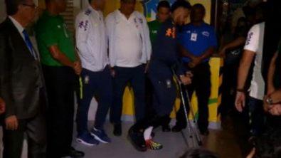 Neymar-crac: via in stampelle