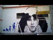 Compleanno di Claudio Baglioni, il murales dei fan