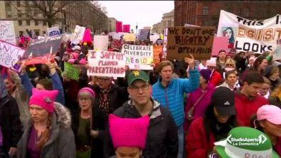 La risposta di Donald Trump alle donne in marcia contro di lui