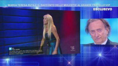 Maria Teresa Ruta vittima di Molestie, l'ex Goria non riesce a trattenere le lacrime
