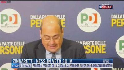 Breaking News delle 17.00 | Zingaretti: nessun veto su IV