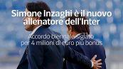 Simone Inzaghi e' il nuovo allenatore dell'Inter