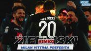 Napoli-Milan: focus su Zielinski